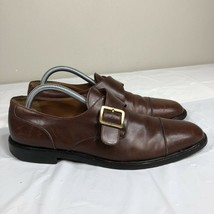 Salvatore Ferragamo Loafers Shoes Buckle Leather Italy VTG Brown Men's 8.5 - $59.99