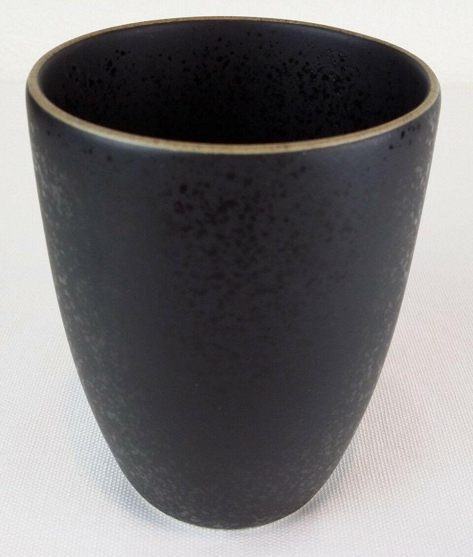 """Dansk Santiago Black 4"""" Coffee Mug Tea Cup Microwave/Oven Safe Stoneware EUC"""