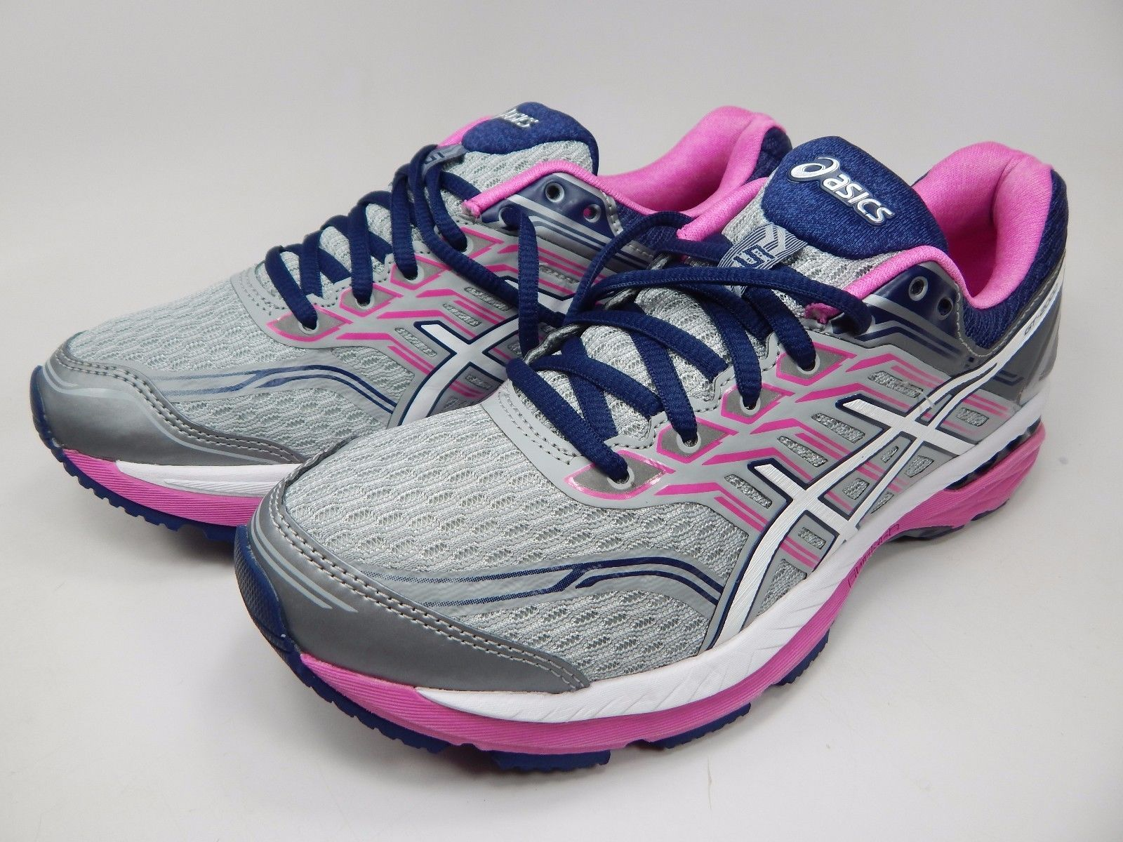 Asics GT 2000 v 5 Women's Running Shoes Sz US 8 M (B) EU 39.5 Silver Pink T757N