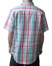 DGK White Grey Red Green plaid Short Sleeve BBQ Woven Button Up Shirt NWT image 3