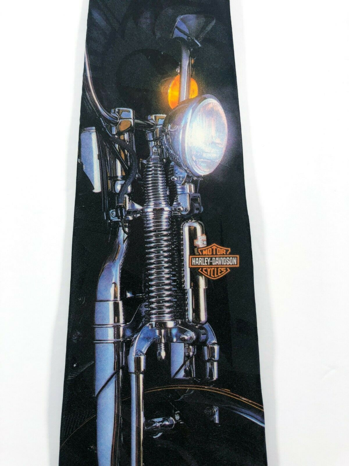 Harley Davidson Neck Tie Chrome Motorcycle The Leading Edge Ralph Marlin