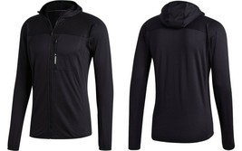 adidas TERREX TraceRocker Mens  Hooded Fleece Jacket CD1467, Black, Size... - $54.51
