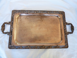 "VTG T&T Taber & Tibbits Silver Plated  25""x13.75"" Serving Tray Grape Pat... - $178.20"