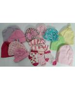 Girls Lot of 12 Baby Hats, Headband and 3 pairs of socks Gerber Newborn NB - $15.99