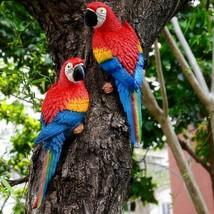 Resin Parrot Lifelike Bird Figurine Statue Lawn Sculpture Ornament Decor... - $26.72+