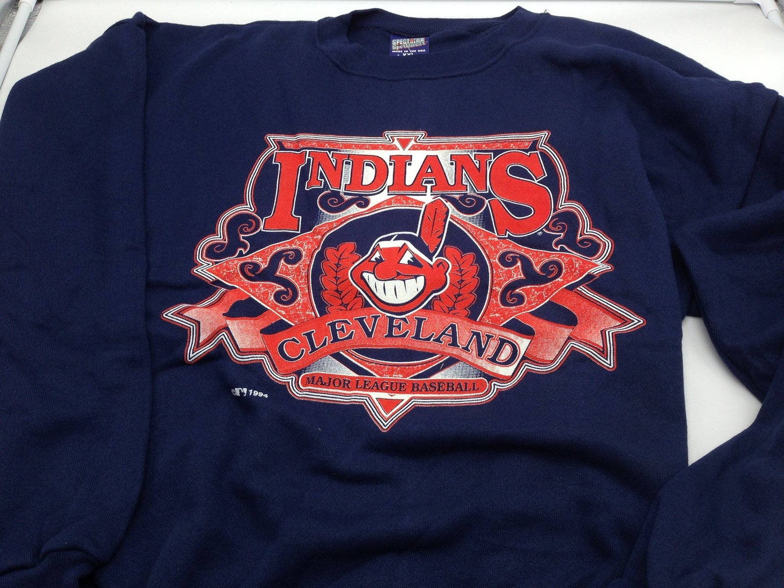 Primary image for Cleveland Indians MLB 1994 Adult XXL Blue Sweatshirt by Spectator Sportswear