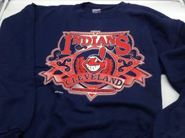 Cleveland Indians MLB 1994 Adult XXL Blue Sweatshirt by Spectator Sports... - $19.99