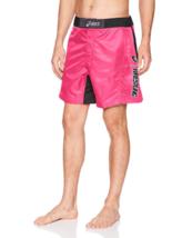 ASICS Men's Feud Wrestling Short Motion Dry Tech Shorts NEW Pink Glow/Black