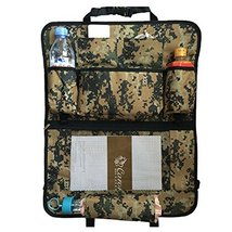 PANDA SUPERSTORE Car Seat Back Organizer Leatherware Storage Bag,Camouflage B