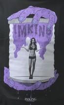 IM KING Mens Black Purple Gotcha Girl in a Bottle Horror T-Shirt USA Made NW image 2