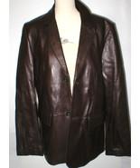 New Mens M Wilsons Leather Jacket Car Coat Dark Brown Medium Buttons Off... - $240.00