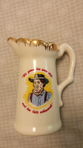 "Vtg Amish Man Creamer/ Pitcher ""We grow too soon oldt and  too late schm... - $9.74"