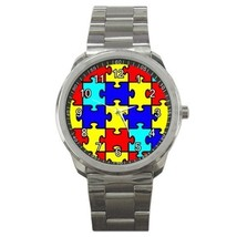 Autism Awareness Sport Metal Watch Gift model 32977231 - $15.99