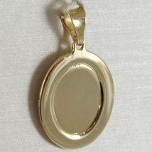 Pendant Medal Oval Yellow Gold White 750 18K Virgo Mary Jane And Jesus, Madonna image 3