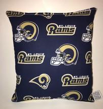 Rams Pillow NFL Pillow St. Louis Rams Pillow Football Pillow HANDMADE In... - $8.99