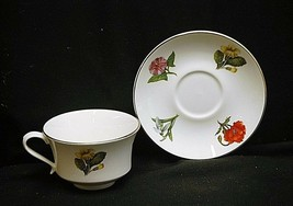 Old Vintage Royale Garden Bone China Staffs England Floral Tea Cup & Sau... - $16.82