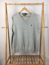 Polo Ralph Lauren Men's Pony V-Neck Gray Sweater Vest Size 3XB - $34.97
