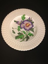 "Vintage Royal Cauldon Plate #2484 Flower Series 9 3/4"" Beaded Trim England - $14.65"