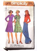 Simplicity Clothing Pattern 7176 Size 6 8 Skirt Blouse Top 1975 Vintage - $10.35
