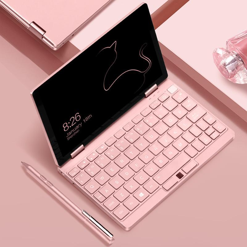 Pink Cat Laptop Notebook 8.4 inch Pocket Computer OneMix3s Netbook i3-10110Y 8G  - $671.99 - $689.99