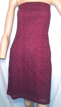 Express Vintage 90s Size 1 2 Red Leopard Print Strapless Dress Bodycon S... - $19.80