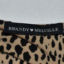 Brandy Melville Women's Cheetah Anima Print Crop Boob Tube Top image 3