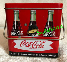 Coke Coca Cola Collection Aluminum Tin Tank Cans Music Box + Quartz desk Clock image 4