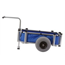 Garden Utility Cart 2.3 cu ft Blue Fabric Bin 220 Lbs Capacity Sturdy Ca... - $191.38