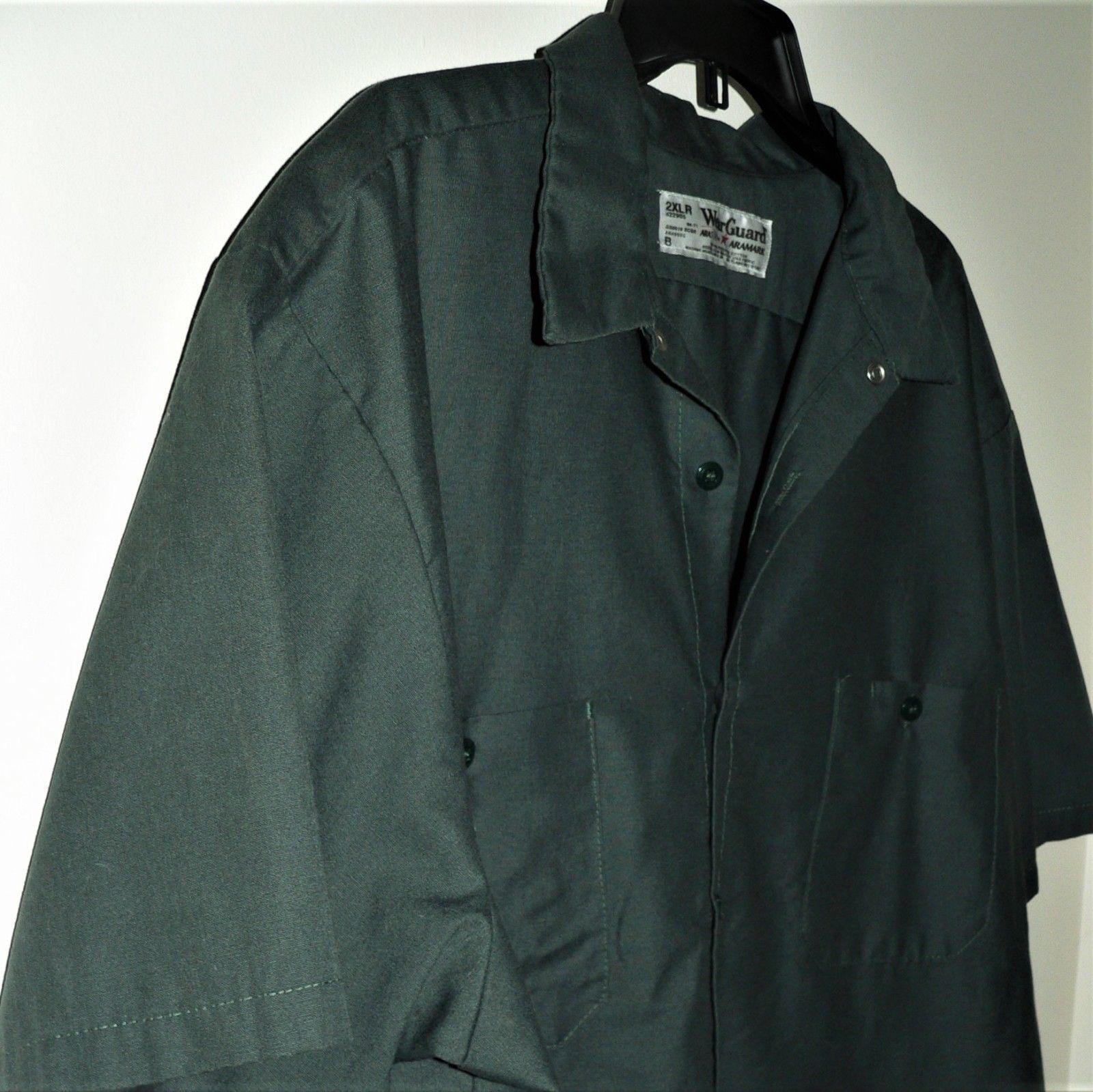 ARAMARK DARK GREEN WORK SHIRT - 2XL - short sleeve GARAGE WORKSHOP