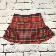 Gap Kids Girls Sz 5 Regular Skirt Red Plaid Pleated School-Girl Skort - $14.84