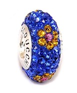Alducchi Saphir Blue-Citrine Blume Kristall .925 Silber - $19.94