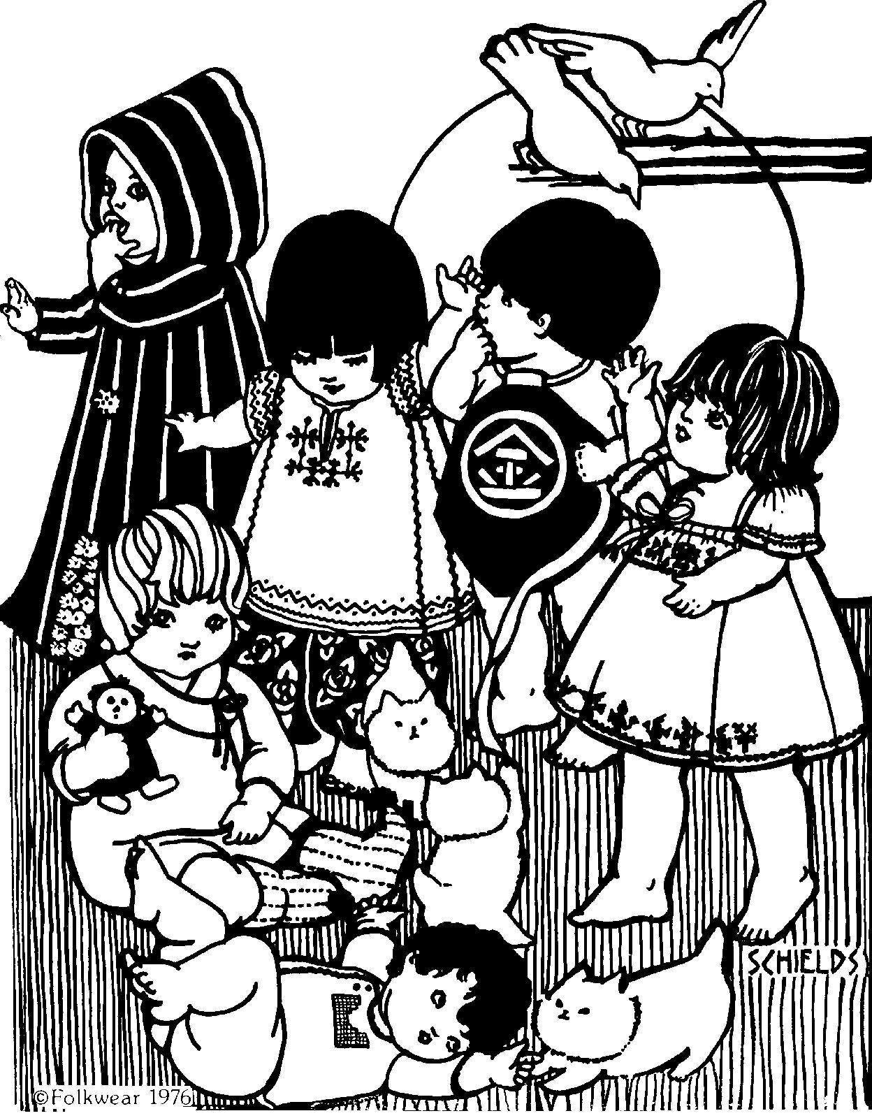 Folkwear #109 Little Folks International Traditional Sewing Pattern folkwear109 - $19.95
