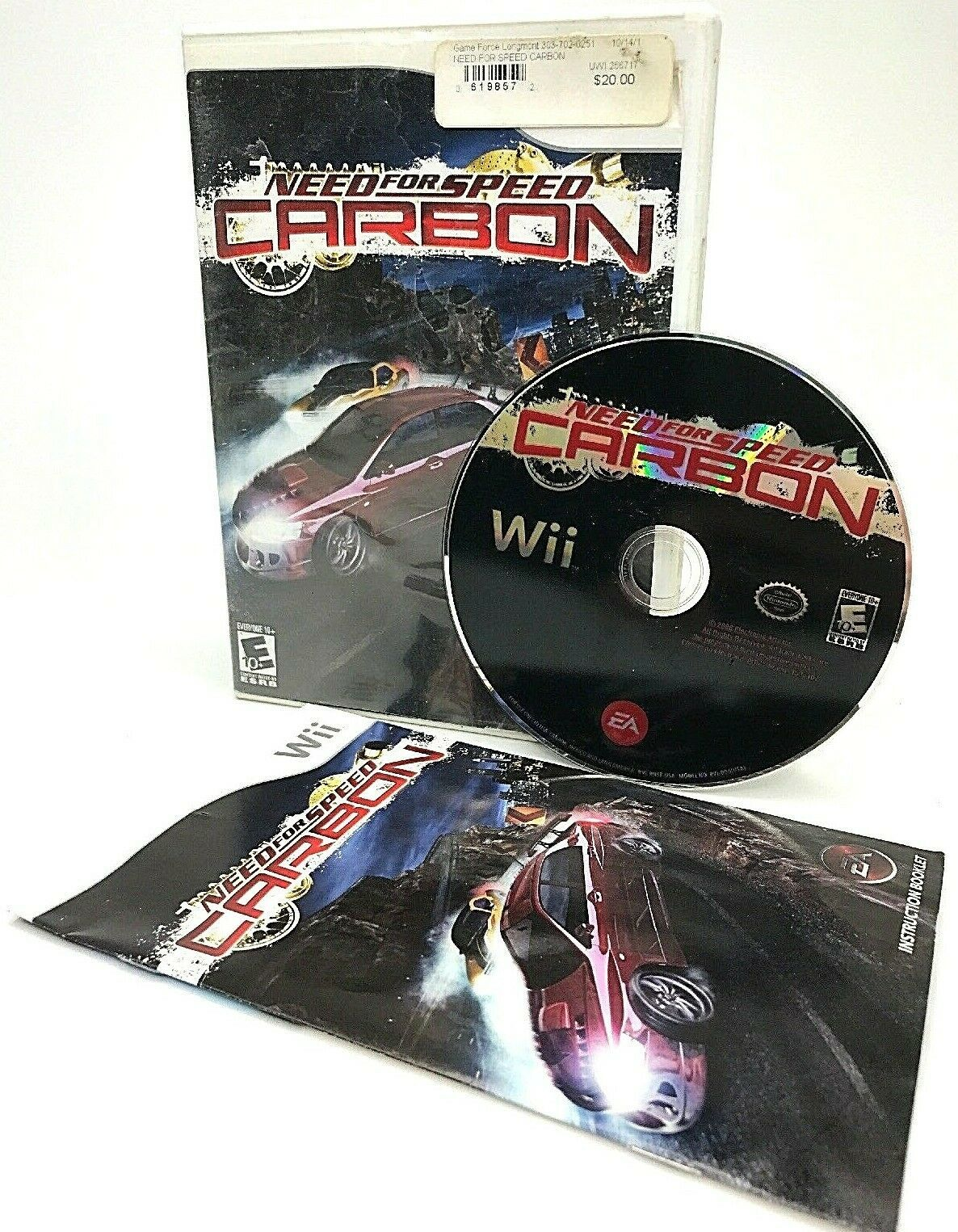 Need for Speed: Carbon (Nintendo Wii, 2006) + Free Shipping!