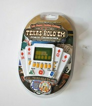 Texas Hold 'em Poker Showdown Electronic Handheld Game Travel Pocker Size Cards - $13.85