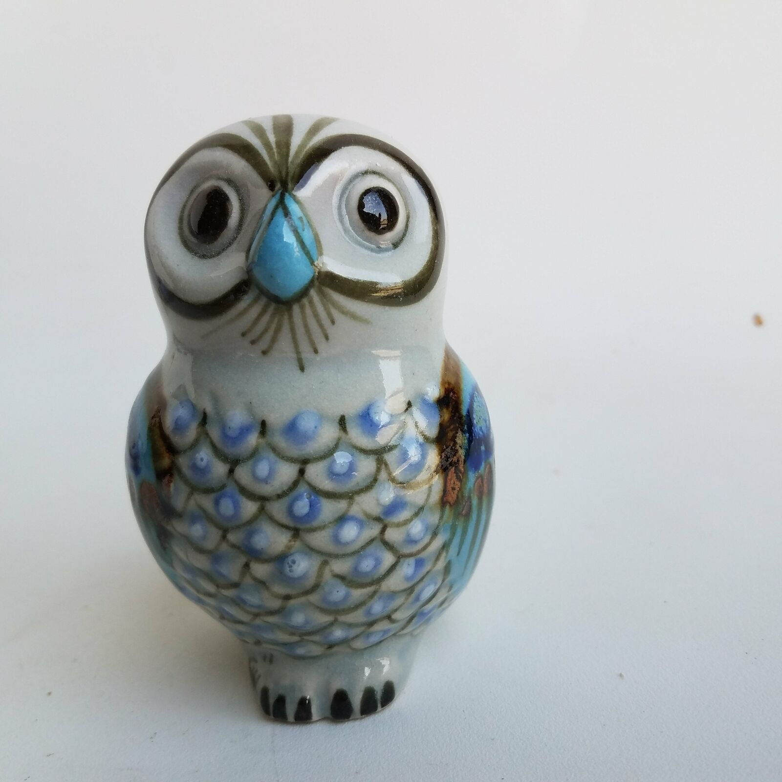 Painted Owl Figurine Home Decor Paperweight
