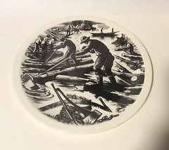 Wedgwood New England Industries Logging Plate by Clare Leighton - $79.18