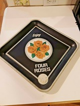 FOUR ROSES METAL SERVING TRAYS WHISKEY BAR TRAY Vintage - $29.69