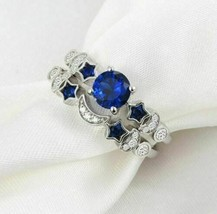 Sun, Moon & Star Blue CZ Ring Set - $12.95