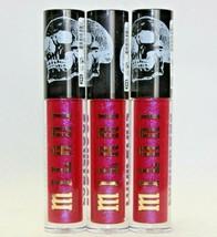 3 Pack! Milani Ludicrous Lip Gloss, 290 Love Bite, Skull Design, 4.75mL each - $17.07