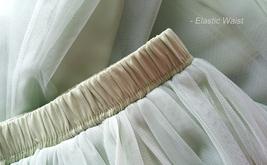 LIGHT GREEN Full Length Maxi Tulle Skirt Green Wedding Bridesmaid Tulle Skirts image 11