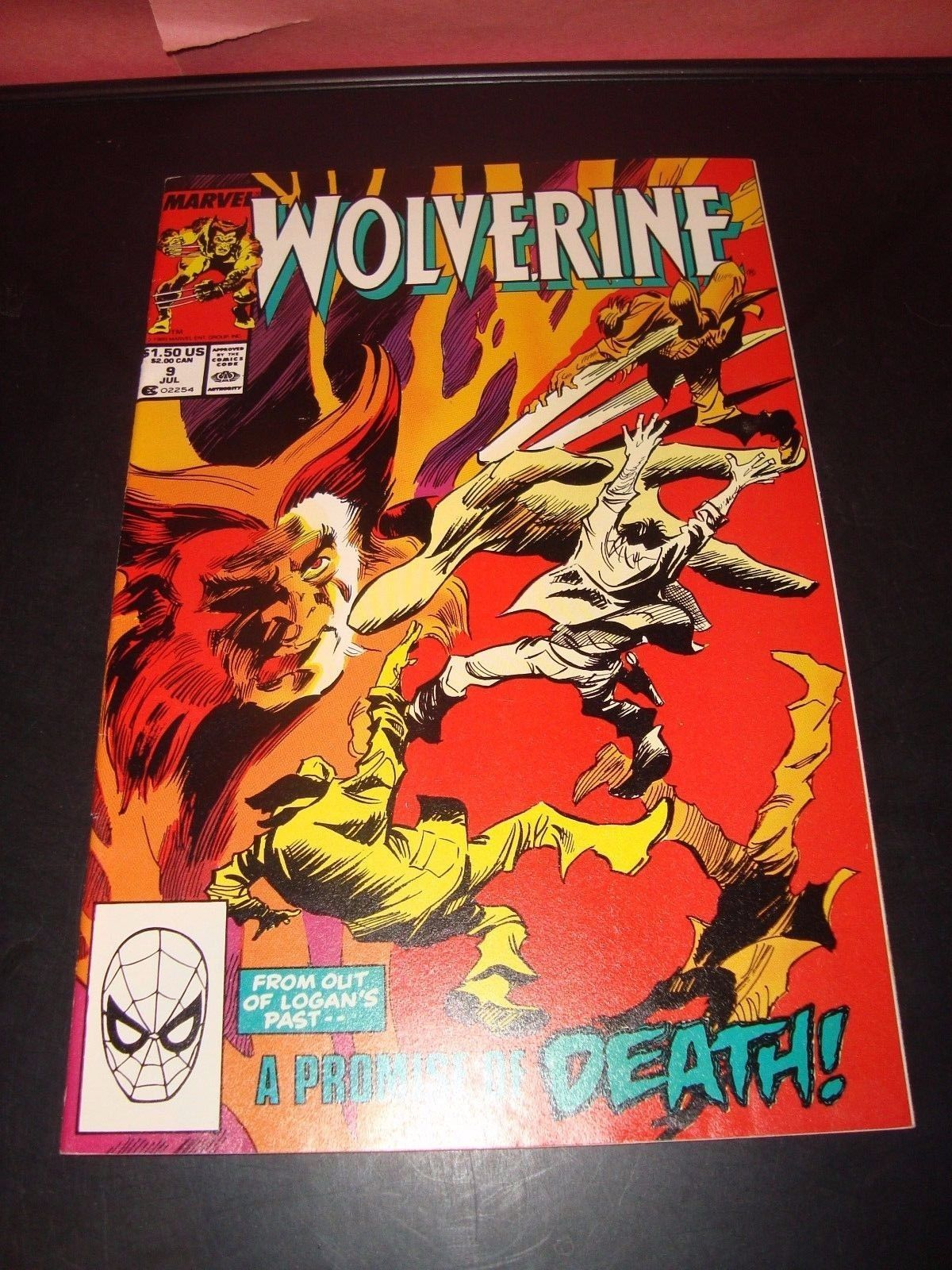 Wolverine #9 Marvel Comic Book VF 8.5 Condition 1989 X-Men