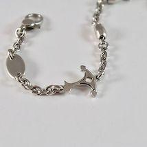 Bracelet en Argent 925 Rhodié Réglable Avec Ancre Brillante Et Finition Satinée image 4