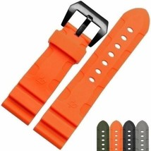 Orange Rubber Strap Band for PAM Officine Panerai Luminor 26mm Bracelet W/Buckle - $39.99
