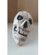 "Plastic Skull with foam stuffing 7""Dx4.5""Wx6""H Scary Halloween Party - $5.49"