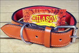 X Large Hilason Heavy Duty Genuine Leather Dog Collar Adjustable Saddle U-4-XL - $49.49