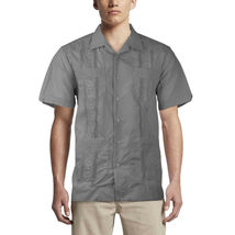 Alberto Cardinali Men's Guayabera Short Sleeve Cuban Casual Dress Shirt image 13