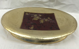 Brand new oval soap dish gold finish heavy and Sturdy Bathroom accessories - $12.86