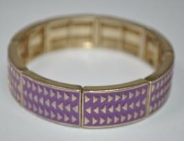 "Lia Sophia ""Rhythmic"" Gold and Purple Stretch Bracelet - 7"" - $6.49"