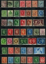 Great Britain Scott #  89 // 296 Early Lot of 46 stamps Used Postage - $17.20