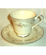 Royal Doulton Cup & Saucer Diana H5079 Pastel Floral  White Made in England - $23.74